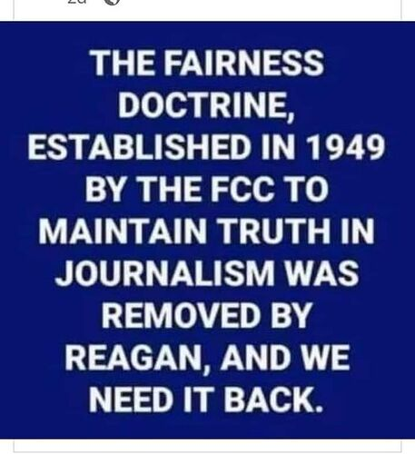 Fairness doctrine