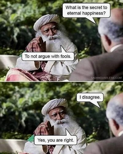 Not argue with fools