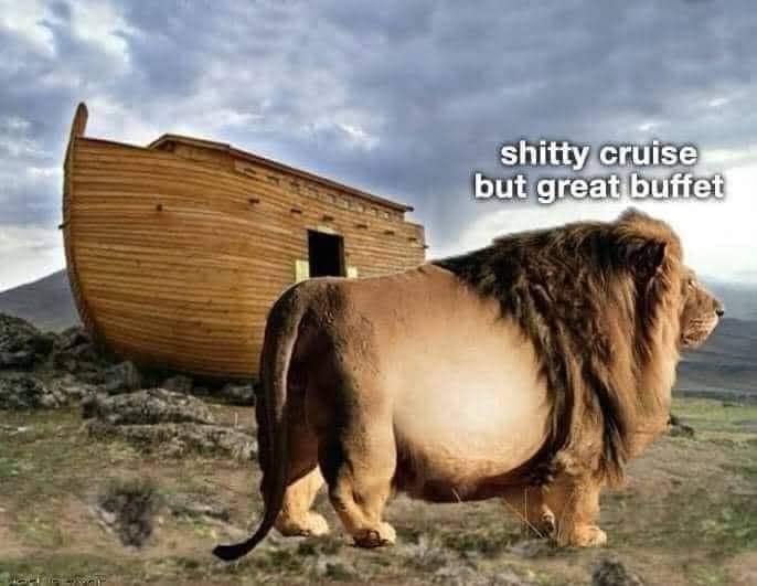 Shitty cruise great buffet